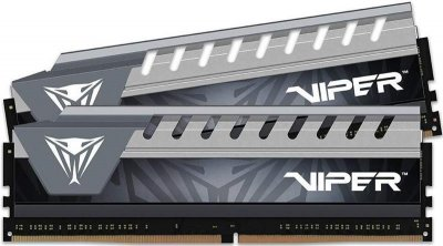 Модуль пам`яті DDR4 2x16GB/2666 Patriot Viper Elite Black/Gray (PVE432G266C6KGY)