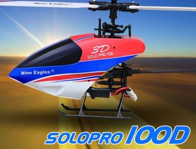 Вертолет на радиоуправлении Nine Eagles Solo Pro 100 3D RTF (NE30228024207003A)