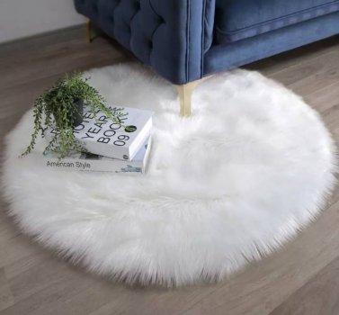 Коврик Softy круглый белый