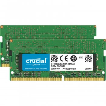 Модуль памяти Crucial DDR4 16Gb (2x8Gb) 2666 MHz Sodimm (CT2K8G4S266M)