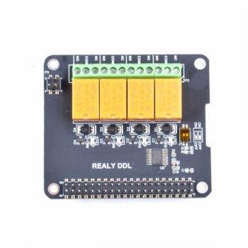 Плата расширения Raspberry Pi Relay Board 4-Ch HAT (111100001)