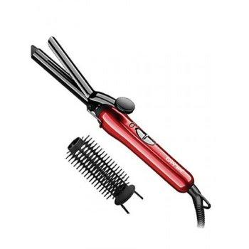Плойка - щипці для волосся GEMEI GM-2906 в комплекті насадка-щітка для волосся