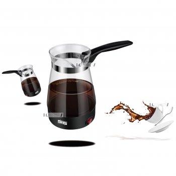 Электрическая турка для кофе кофеварка электротурка стеклянная 700мл DSP 600W Черная (KA3037)