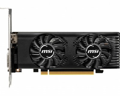 Відеокарта MSI GeForce GTX 1650, OC, 4Gb GDDR5, 128-bit, DVI/HDMI, 1695/8000 MHz, Low Profile (GTX 1650 4GT LP OC)