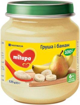 Упаковка пюре фруктового Milupa Груша та банан для дітей від 6 місяців 125 г х 6 шт. (8591119003980)