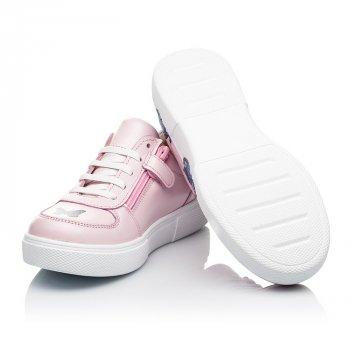 Кеды (боковая молния) Woopy Fashion розовый (8120)