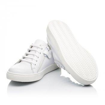 Кеды (боковая молния) Woopy Fashion белый (8130)
