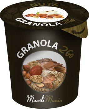 Упаковка гранола с орехами Muesli Mania Nuts Granola 6 шт х 70 г (6k-4820220140067)