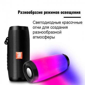 Bluetooth-колонка з LED підсвічуванням TG-157, Потужністю 10W, Акумулятор 1200mAh Чорний