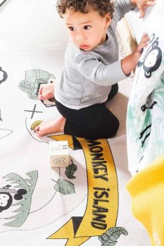 Дитячий килимок Jollein Жоллейн Monkey island 90×130 см (058-593-65206)
