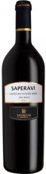 Вино Badagoni Саперави Кошерное 2018 красное сухое 0.75 л 14% (4860006042246)