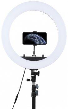 """Кольцевая LED лампа Puluz 18"""" + штатив (MCP0056)"""