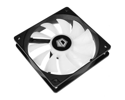 Вентилятор ID-Cooling XF-12025-ARGB (Single Pack), 120x120x25мм, 4-pin PWM, чорний c білим