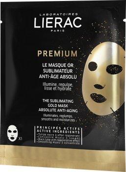Маска-салфетка Lierac Премиум Золотая маска 20 мл (3508240013509)