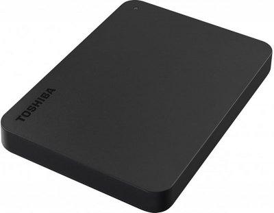 """Накопитель внешний HDD 2.5"""" USB 4.0TB Toshiba Canvio Basics Black + USB-C адаптер (HDTB440EK3CBH)"""