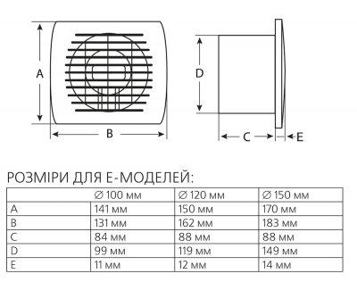 Вытяжной вентилятор Europlast E100Т с таймером белый