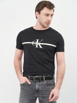 Мужской ремень кожаный Calvin Klein Jeans Adj/Rev Two-Finish Fac Saf 35M K50K506879-00U 95 см Black Mono Mix (8719853771006)