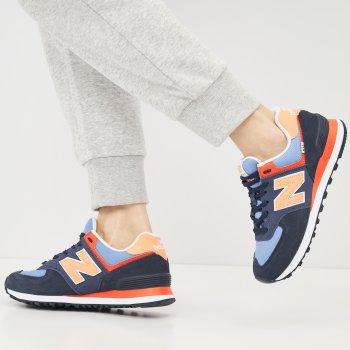 Кроссовки New Balance WL574SY2 Синие с оранжевым