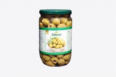 Оливки Athena зелені без кісточки скло 700/360 гр.