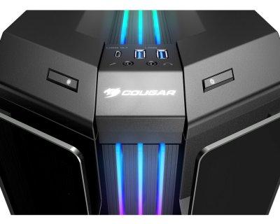 Корпус Cougar Gemini T Pro Black без БП