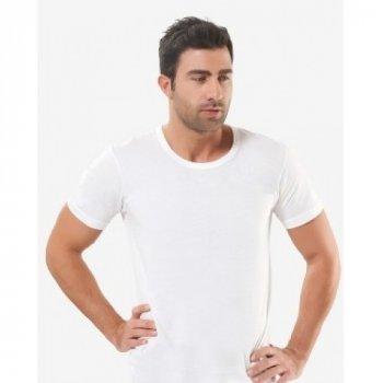 Чоловіча футболка Oztas 1002-A біла 100% бавовна кулір