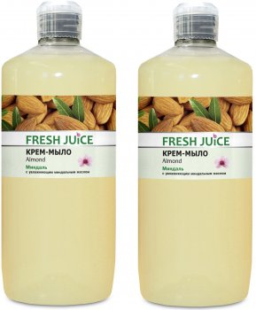Набор Fresh Juice Крем-мыло Almond 1 л х 2 шт (49000061)