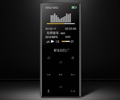 MP3-плеер Ruizu D29+ Bluetooth 16Gb с внешним динамиком Чёрный