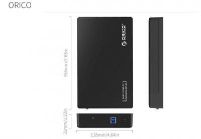 """Внешний карман Orico 3588US3 для 3.5"""" HDD/SSD USB 3.0"""