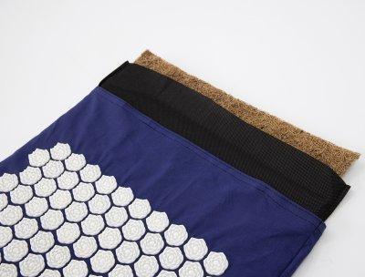 Масажний килимок і валик (аплікатор Кузнєцова) масажер для спини/шиї/тіла OSPORT Lotus Mat Eco (apl-021) Синьо-білий
