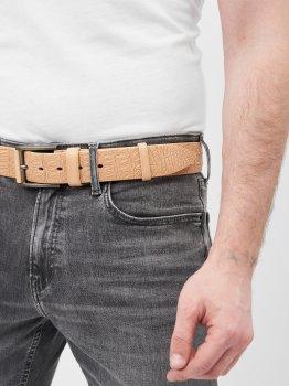 Ремень кожаный Sergio Torri 16-0067/40 беж/ крок 125 см Бежевый (2000000023298)