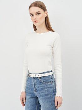 Женский ремень кожаный Sergio Torri 16-0016/25 біл 125 см Белый (2000000023786)