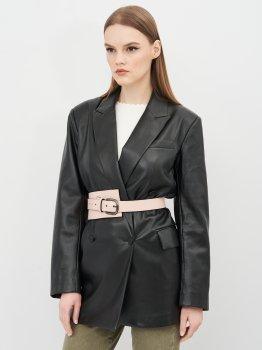 Женский ремень кожаный Sergio Torri 16-0045 пудра 130 см Пудра (2000000023571)