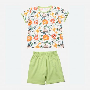 Пижама Фламинго 222-130 Молочный/Оливковый