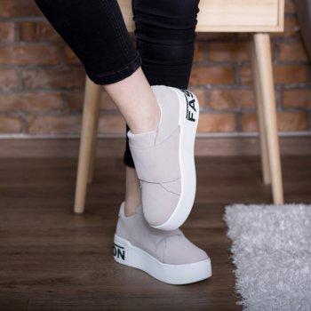 Слипоны женские Shoes Abiah 2733 25 Серый