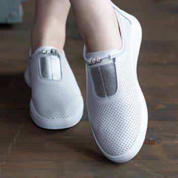 Слипоны женские Shoes Ebb 2769 26 Белый