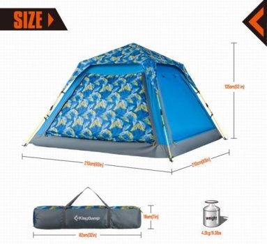 Палатка KingCamp Positano KT3099 Palm Blue (KT3099_PALMBLUE)
