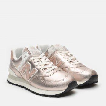 Кросівки New Balance Metallic WL574PM2 Рожеве золото