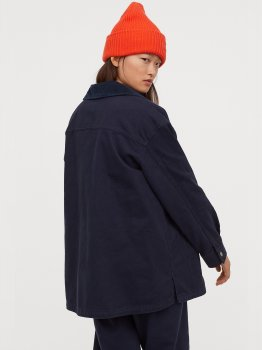 Джинсова куртка H&M 060783709 Темно-синя