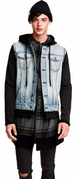 Куртка джинсовая H&M 02WCY66 Голубая