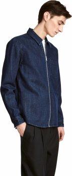 Куртка джинсовая H&M 04WFX63 Темно-синяя