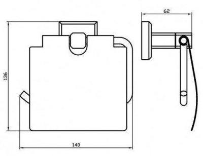 Тримач для туалетного паперу AQUA RODOS Leonardo 9926 чорний матовий