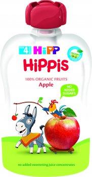 Упаковка фруктового пюре HiPP органічного Яблуко з 4 місяців 100 г х 6 шт (9062300139539)