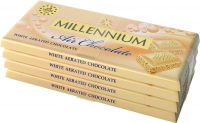 Упаковка шоколада Millennium белого пористого 4 шт х 85 г (4820240030737)