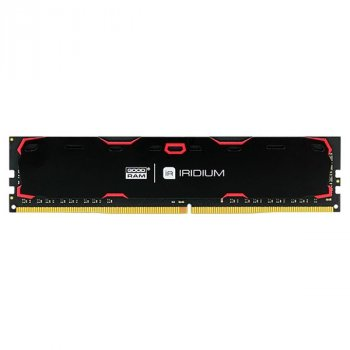 Пам'ять DDR4 4Gb, 2400 MHz, Goodram Iridium Black, 15-17-17, 1.2 V, з радіатором (IR-2400D464L17S/4G)