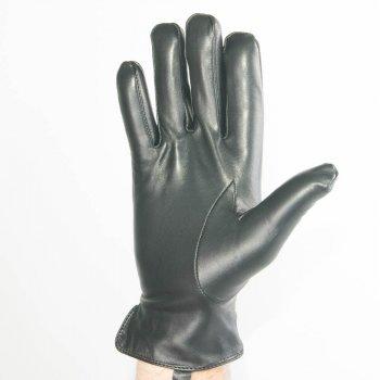 Якісні чоловічі шкіряні рукавички Antari (m13/4) 22-23см Чорний
