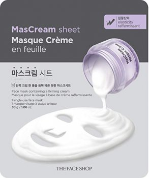 Маска для лица The Face Shop MasCream Sheet Elasticity Успокаивающая 30 г (8806182565304)