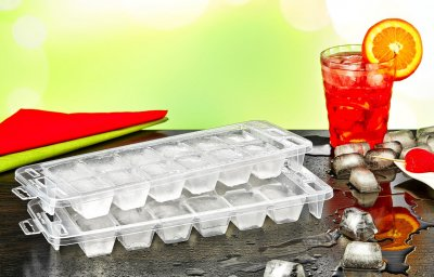 Форма для льда Premium 2 шт белая Irak Plastik