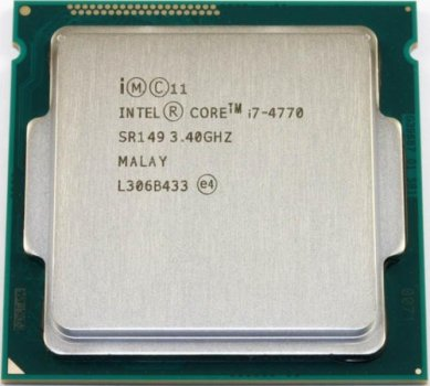 Процесор Intel Core i7-4770 (S1150/4x3.4GHz/5GT/s/8MB/84 Вт/BX80646I74770) Б/У