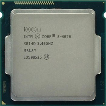 Процесор Intel Core i5-4670 (S1150/4x3.4GHz/5GT/s/6MB/84 Вт/BX80646I54670) Б/У