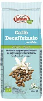 Органический кофе Salomoni Decaffeinato Biologico без кофеина 250 г (8025658020189)